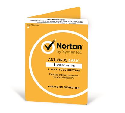 Picture of NORTON ANTIVIRUS BASIC 1 PC WINDOWS 1 YEAR