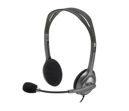 Picture of HEADSET LOGITECH H111 WITH MICROPHONE 1 PLUG
