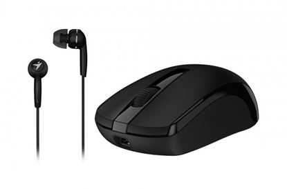 Picture of MOUSE GENIUS MH-8100 & EARPHONE BLACK