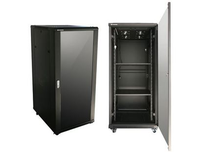 Picture of CABINET 27U W600*D600*H1400 GLASS DOOR/ SIDE PANELS/FAN