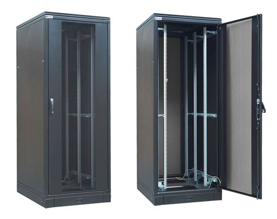 Picture of CABINET 47U W800*D800*H2200 GLASS DOOR/SIDE PANELS/FAN