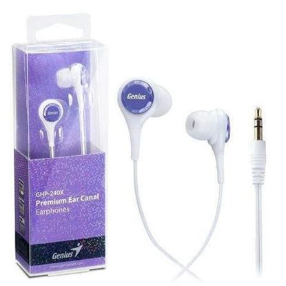 Picture of EARPHONE GENIUS GHP-240X PURPLE