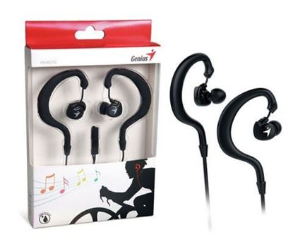 Picture of EARPHONE GENIUS SPORT CLIP-ON HS-M270 BLACK