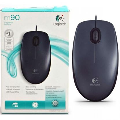 Picture of MOUSE LOGITECH USB M90 GREY