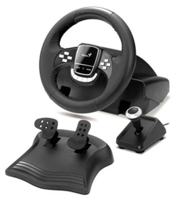 Picture of RACING WHEEL GENIUS TWINWHEEL FF PS2 & PC
