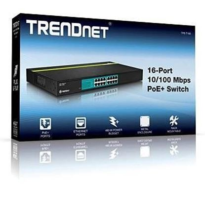 Picture of POE SWITCH TPE-T160 16-PORT 30 WATTS 10/100 POE+(480w)