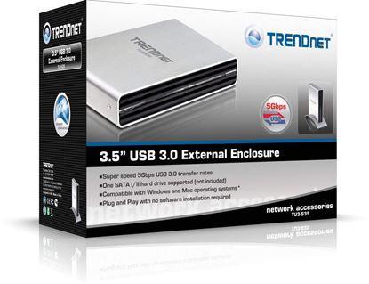 """Picture of ENCLOSURE 3.5"""" TU3-S35 USB 3.0 SATA TRENDNET"""