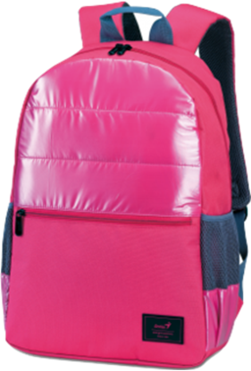 "Picture of BAG GENIUS BACKPACK GB-1521 PINK 15.6""  POLYESTER"