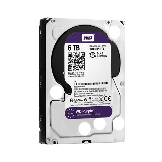 Picture of HARD DISK 6 TB SATA WD 16MB PURPLE