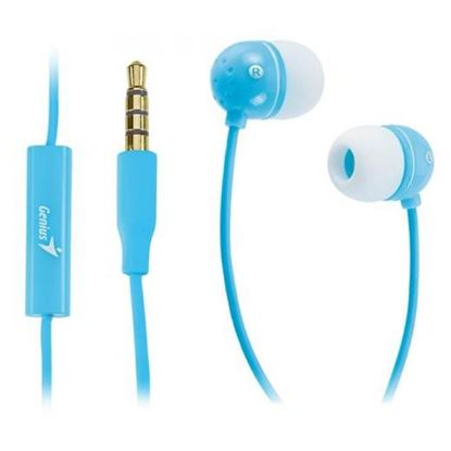 Picture of EARPHONE GENIUS + MIC HS-M210 BLUE IN-LINE