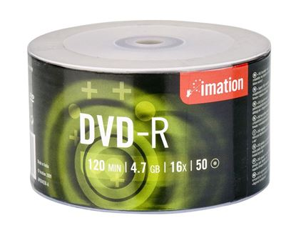 Picture of DVD-R IMATION 16X 4.7GB BOX 50 BULK